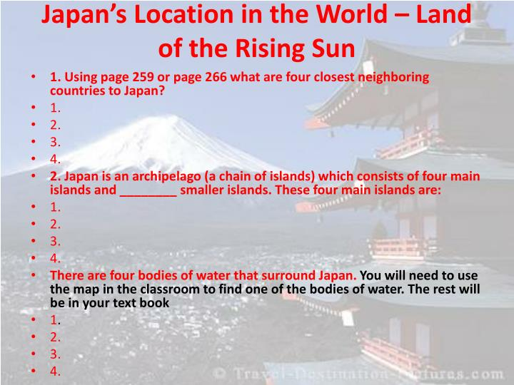 Japan's Location in the World – Land of the Rising Sun