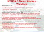 section 2 nature shaping a worldview