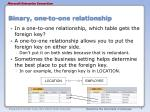 binary one to one relationship