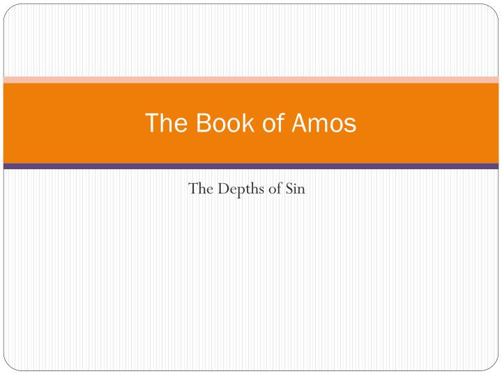 the book of amos n.