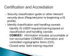 certification and accrediation