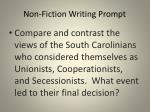 non fiction writing prompt
