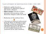last attempt of restoration 1261 1321 ad1