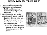 johnson in trouble