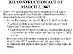 reconstruction act of march 2 1867