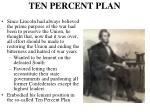 ten percent plan