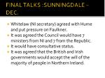 final talks sunningdale dec