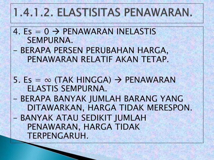 1.4.1.2. ELASTISITAS PENAWARAN.