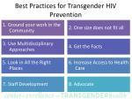 best practices for transgender hiv prevention