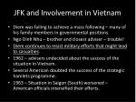 jfk and involvement in vietnam
