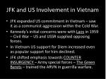jfk and us involvement in vietnam