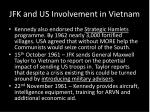 jfk and us involvement in vietnam1