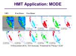 hmt application mode