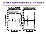 mode based evaluations of ar objects