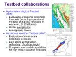 testbed collaborations