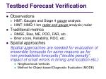 testbed forecast v erification