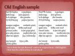 o ld english sample