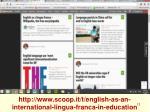 http www scoop it t english as an international lingua franca in education