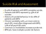 suicide risk and assessment