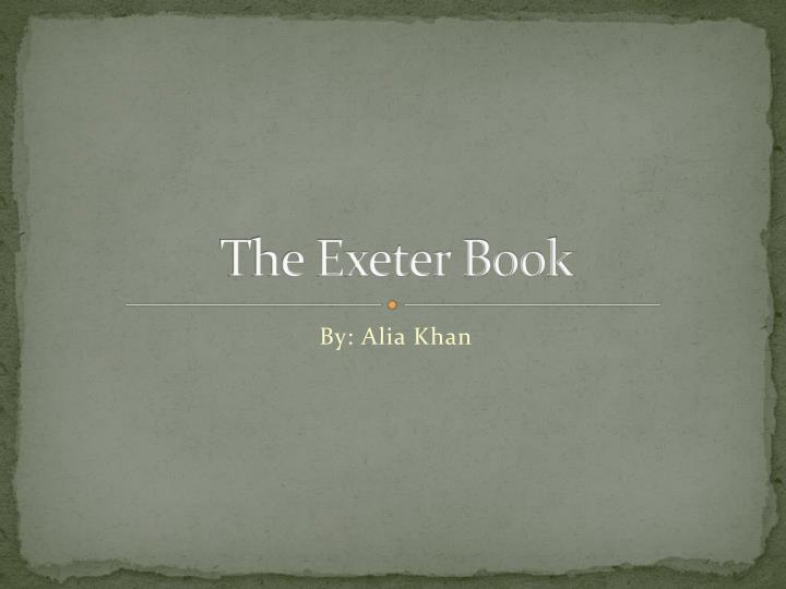 the exeter book n.