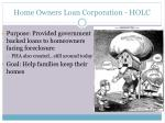 home owners loan corporation holc