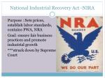 national industrial recovery act nira