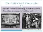 nya national youth administration