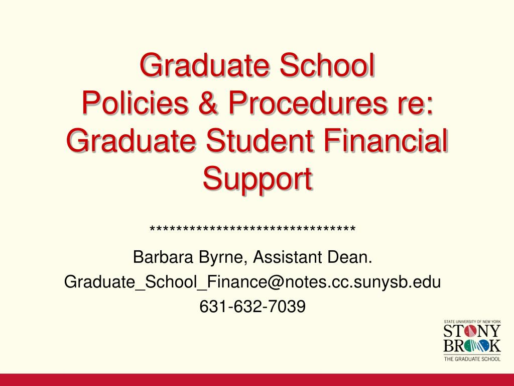PPT - Graduate School Policies & Procedures re: Graduate