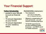 your financial support