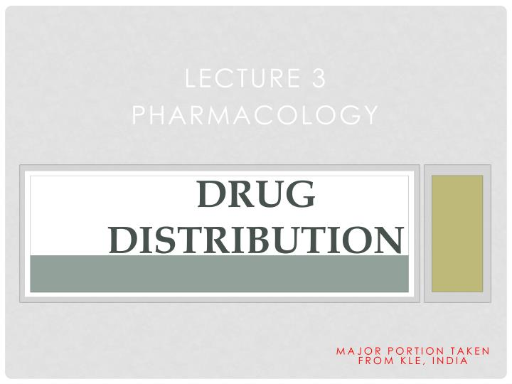 drug distribution n.