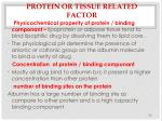 protein or tissue related factor