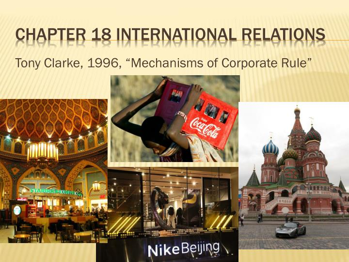 chapter 18 international relations n.