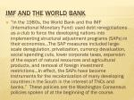 imf and the world bank