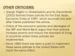 other criticisms