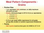 meal pattern components grains