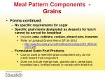 meal pattern components grains1