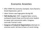 economic anxieties