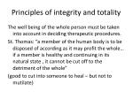 principles of integrity and totality