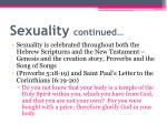 sexuality continued