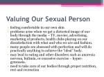 valuing our sexual person