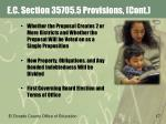 e c section 35705 5 provisions cont
