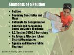 elements of a petition