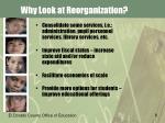 why look at reorganization