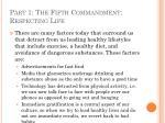 part 1 the fifth commandment respecting life36