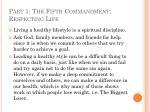 part 1 the fifth commandment respecting life37