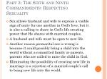 part 2 the sixth and ninth commandments respecting sexuality23