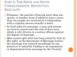 part 2 the sixth and ninth commandments respecting sexuality28
