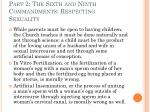 part 2 the sixth and ninth commandments respecting sexuality30