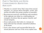 part 2 the sixth and ninth commandments respecting sexuality9