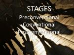 stages preconventional conventional postconventional